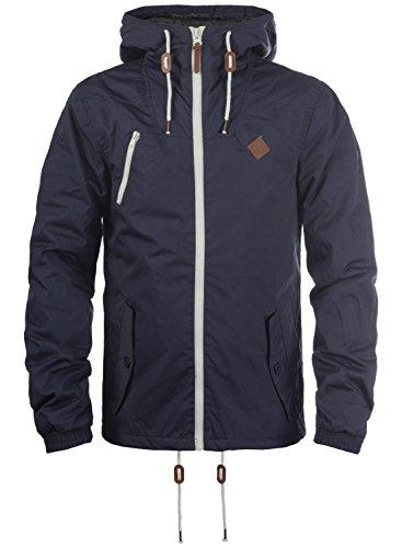 !Solid Tilden Herren Übergangsjacke Herrenjacke Jacke Mit Kapuze, Größe:3XL, Farbe:Insignia Blue (1991) (Kapuzen-anorak-jacke)