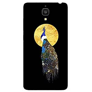 Back cover for Xiaomi Mi4 Abstract Peacock