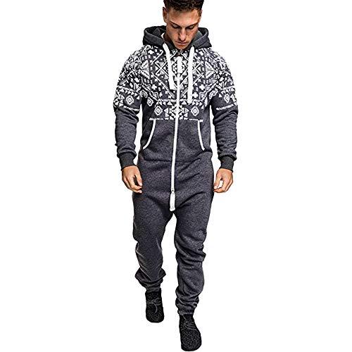 5c5938ec22a1 Jumpsuit Combishort Long Combinaison Chic Zipper EléGant Homme