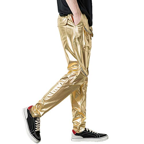 ODRD Männer Yoga Hosen Herren Pants Herbst Winter Stil Gezeiten Marke Hot Gold Multipocket Hiphop Casual Hosen Jogginghosen Laufhose Sweathose Strumpfhosen Trainingshose Sport