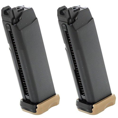 Airsoft Softair Ausrüstung 2pcs Packung APS 23rd Co2 Mag für Action Combat Pistole ACP 601 Schwarz / Dark Earth