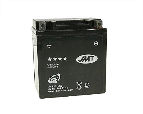 JMT GEL JMB10L-B2 12 Volt Batterie für Piaggio/Vespa Hexagon 125 LX 4T, Hexagon 125 4T, Hexagon LX 2T RST [inkl. 7,50 Euro Batteriepfand]
