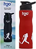 #10: H2O SB 104 Stainless-Steel Water Bottle, 750ml (Red)