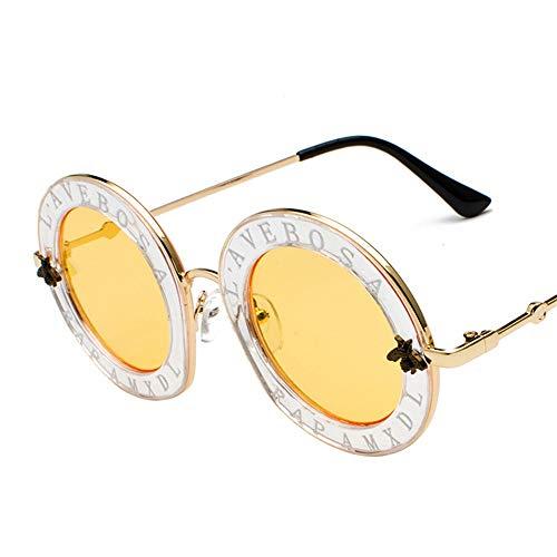 Yiph-Sunglass Sonnenbrillen Mode Persönlichkeit Brief Brille Beat Sonnenbrille Street Injection Sonnenbrille (Farbe : 512)
