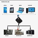 hunpta aptX Bluetooth 4.2Sender und Empfänger Audio 3,5mm Adapter Auto-Set MP3-, schwarz