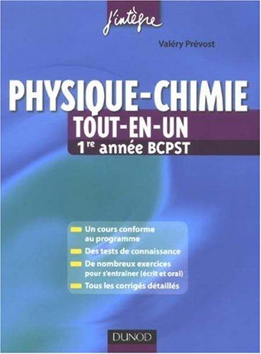 Physique-chimie : Tout-en-un - 1re année BCPST