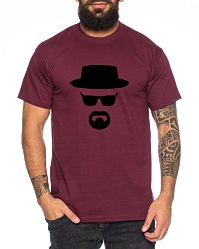 Heisenberg Herren T-Shirt Hermanos Bad Mr White Breaking, Farbe:Weinrot;Größe:XL