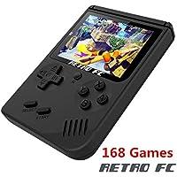YLM Handheld Spielkonsole, Retro TV FC Spielkonsole, Entertainment System Videospielkonsole mit 3 Zoll 168 Klassische Spiele, spielkonsolen für Kinder