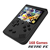 Handheld Game Console, Retro FC Game Console 3 Inch 168 Classic Games