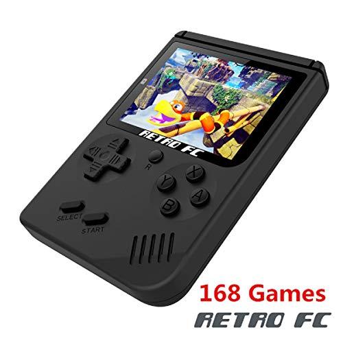 Handheld Spielkonsole, Handheld Game Console 3 Zoll 168 Klassische Spielkonsole Konsole - Schwarz