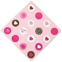 vaisselle jetable créative serviettes pour le Parti/Restaurant, forme coeur