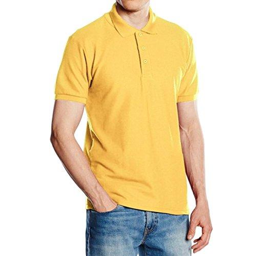 TUDUZ Herren Persönlichkeit Einfarbig Slim-Fit Kurzarm Einfarbig T-Shirt Poloshirt M-XXL (Lustige Selbstgemachte Halloween Kostüme)