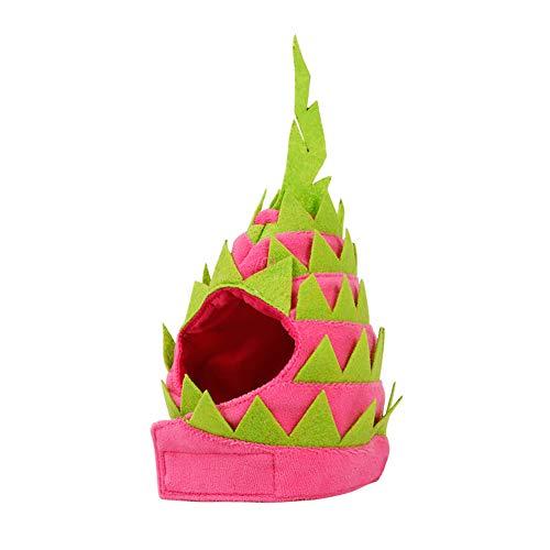 Beito Dragon Fruit Pet Hat L Für Katzen-Hundewelpen-Haustier-Kostüm-Partei-Dekor Neuheit Dragon Fruit Design Haustier-Kopfbedeckung