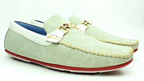 Da Uomo Nuovo Slip On Casual Mocassini Vestito Firmato mocassini Driving scarpe misura inglese Beige