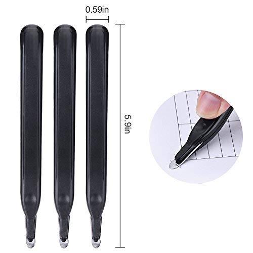 Lvcky 4Stück magnetisch Klammerentferner Push Stil Entferner leicht Klammerentferner Werkzeug, Schwarz