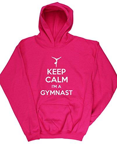 hippowarehouse-keep-calm-im-a-gymnast-gymnastics-kids-unisex-hoodie-hooded-top