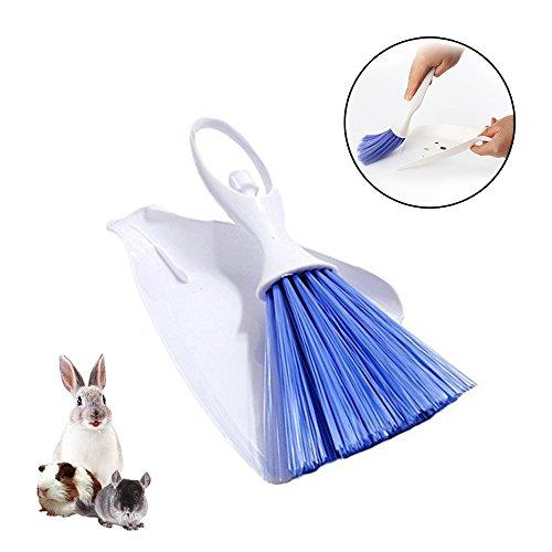 Pet Besen Bürste und Kehrschaufel, Boden Reinigungsset, PET Abfall Schaufeln Reinigung Werkzeug für Kaninchen, Meerschweinchen, Reptile, Igel, Hamster und andere kleine Tiere