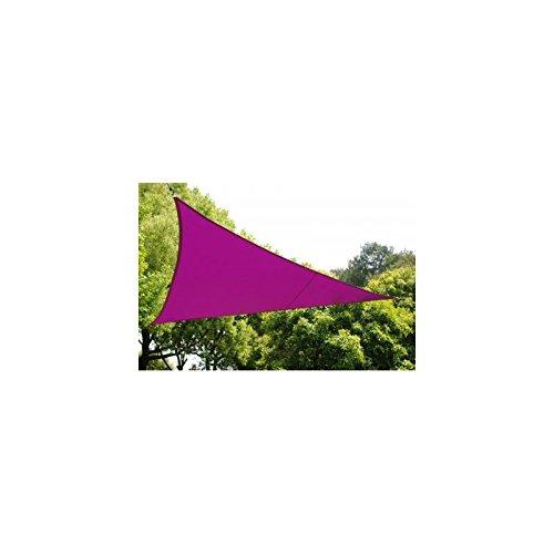 Voile d'ombrage Triangulaire (L5m) Curacao Violet