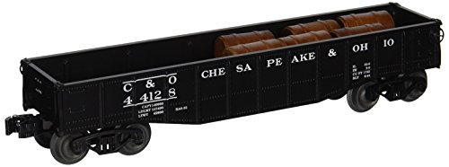 Williams By Bachmann Chesapeake and Ohio O Scale Gondola With Barrels
