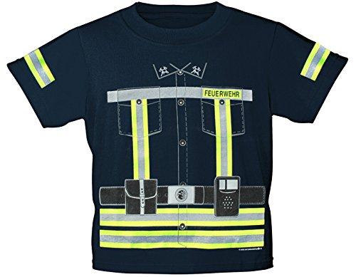 Kinder T-Shirt mit Vorder- und Rückenprint - Feuerwehr - 12701 - Gr. 86-164 Size 110/116