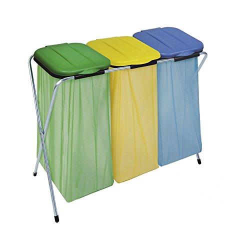 #MASTA Müllsackständer Ercofix mit Deckel für 3 Müllsäcke 60-130 L, 1 Stück,900900#