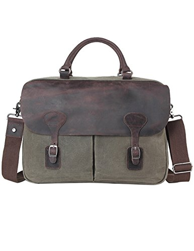 Menschwear Impermeabile Vintage Canvas Messenger Bags Casual Spalla Dell'imbracatura Pacchetto Daypack Verde Scuro Verde