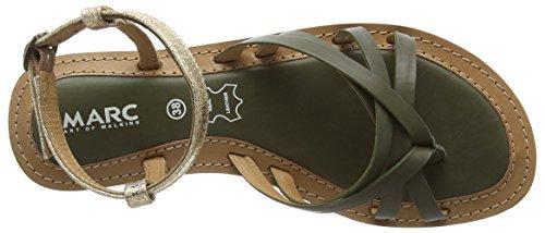 Marc Shoes Mimi, Tongs Femme Vert - Grün (olive-combi 556)