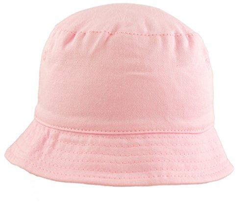 Baby Girls Sun Hat Summer Bucket Style 100% Cotton Pink 5 Sizes, Infant, Toddler, Kids 0 Months - 4 Years