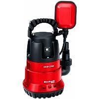 Einhell GH-SP 2768 Bomba sumergible aguas limpias, interruptor flotante, caudal 6800 l/h, 270 W, 230 V, color rojo y negro