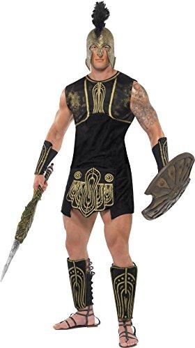 Smiffys Herren Achilles Kostüm, Tunika, Gürtel, Stulpen und Beinschutz, Größe: M, - Leonidas Kostüm Halloween