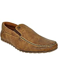 Lee Grain Pure Leather Brown Loafer Shoe