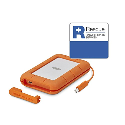 Best Price LaCie Rugged 2 TB Thunderbolt Plus USB-C Portable 2.5-Inch External Hard Drive for PC and Mac – Orange