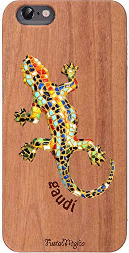 18907e50a6e FUSTA MAGICA Carcasa de Madera iPhone 5s Dragón. Wooden Case iPhone5s Gaudí  Dragon.