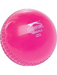 Slazenger Cricket Deportes Match Play el entrenamiento/Práctica pelota de aire de plástico rosa blanda, rosa, infantil