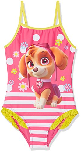 Nickelodeon Mädchen Badeanzug Team Skye, Gelb (Yellow 13-0858TC), 6 Jahre