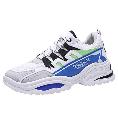 LILICAT Scarpe Running Sneakers Uomo Sport Scarpe da Ginnastica Fitness Respirabile Mesh Corsa Leggero Casual all'Aperto Scarpe da Corsa(Blue-K,42 EU)