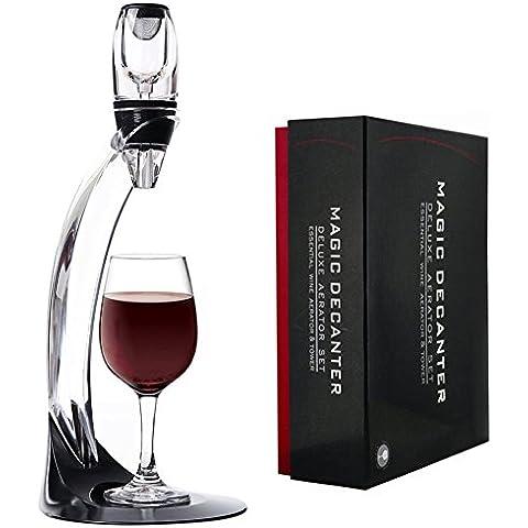 ticent aeratore per vino rosso Decanter aeratore–Set con supporto a torre