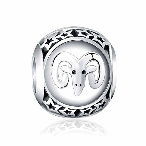 03a62f417ab7 Sterling Silver Charms Charm en argent 925 motif signe astrologique pour  bracelet Pandora, Chamilia, Biagi, Swarovski Breloque signe du Zodiaque en  ...