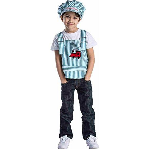 Kinder Lokführer Kostüm - Dress Up America Train Engine Rollenspiel Set Kostüm für Kinder von 3-6 Jahren