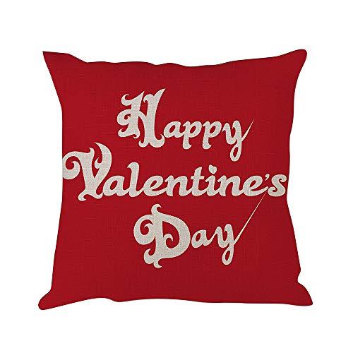 mit rotem Baum und Liebespaar aus Baumwolle und Leinen, Valentinstags-Dekoration (süßes Herz) 20x20inch Happy Valentine¡¯s Day ()