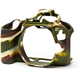 Roy EasyCover Silicone Protective Camera Case Cover for Canon 200D camouflage