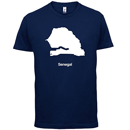 Senegal / Republik Senegal Silhouette - Herren T-Shirt - 13 Farben Navy