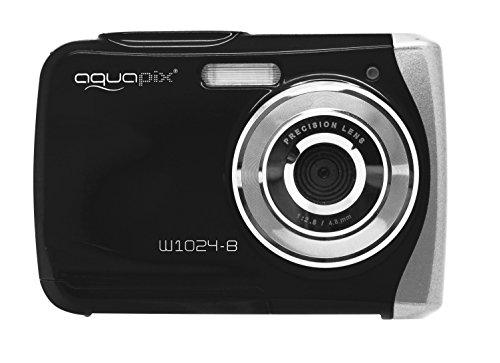 Easypix Aquapix W1024 - Cámara compacta digital (10 MP, 2.4', zoom digital 4x, VGA), color negro