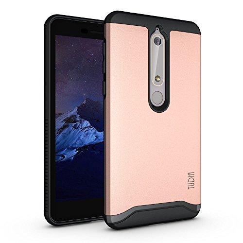TUDIA Nokia 6.1 / Nokia 6 (2018) Hülle, Slim-Fit Merge Dual Layer Schutzhülle für Nokia 6.1 / Nokia 6 (2018) (Rose Gold)