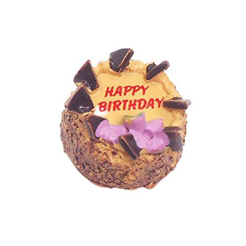nhaus Küche Zubehör - Miniatur Geburtstag Schokolade Kuchen Essen ()
