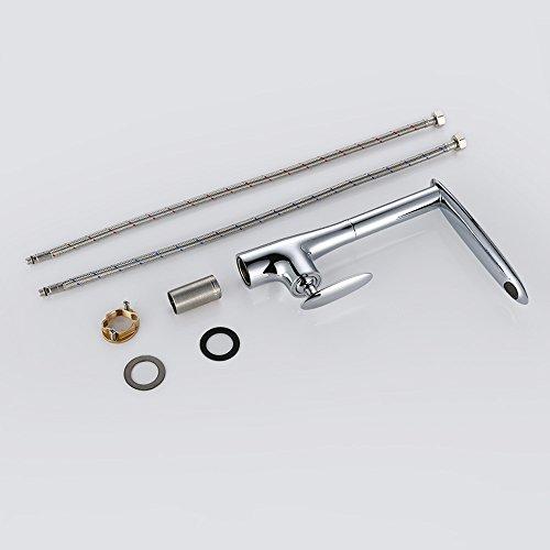 Homelody – Seltene Design-Küchenarmatur, 360° drehbar, Chrom - 7