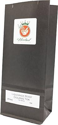 Racine de réglisse biologique et le thé Oolong sachets de tisane - paquet de 25