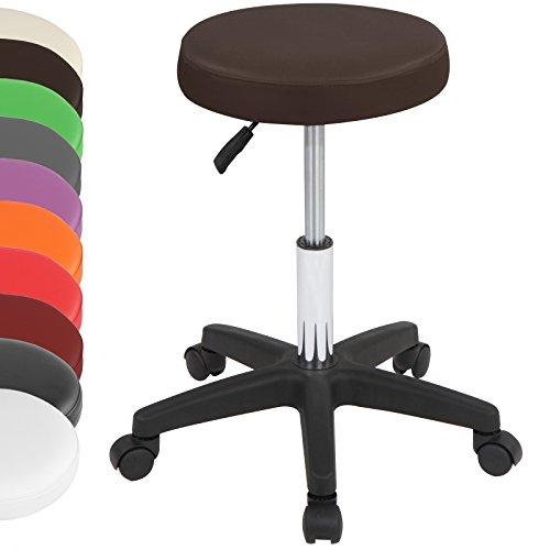 Miadomodo Barhocker Rollhocker Hocker drehbar und höhenverstellbar im Set und in der Farbe Ihrer Wahl