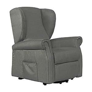 fernsehsessel mit motor prag aufstehhilfe und 2 motoren stoffbezug in der farbe hellgrau. Black Bedroom Furniture Sets. Home Design Ideas
