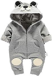 Pagliaccetto orso grigio bianco per neonati da 3 a 6.6 a 9 o da 9 a 12 mesi, taglia 70,80,90 moda neonato